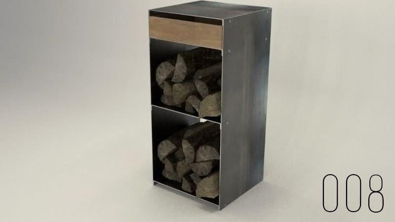 design-metallmöbel-kaminholzaufbewahrung-kaminholzregal-innen-wohnzimmer-draußen-stahlmöbel-stahlzart